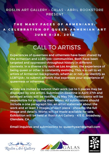 Call To All Armenian Artists: First ever queer themed art exhibit